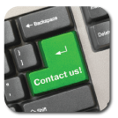 Contact Us Key on a computer keyboard where the ENTER key should be