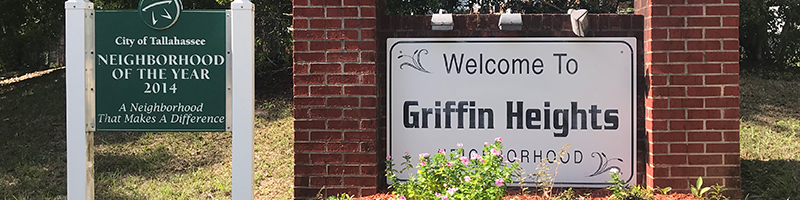 Griffin Heights Neighborhood entrance
