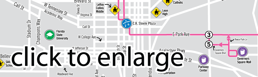 Evergreen Weekdays Route Map