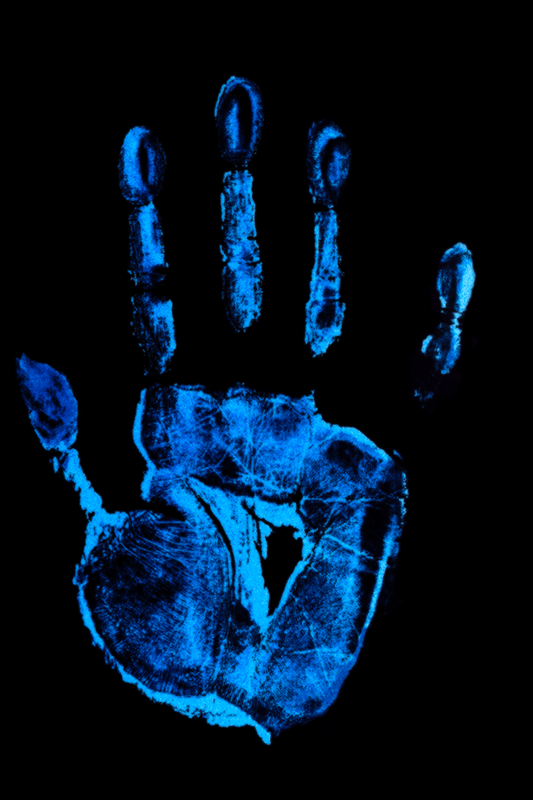 A handprint found during investigation