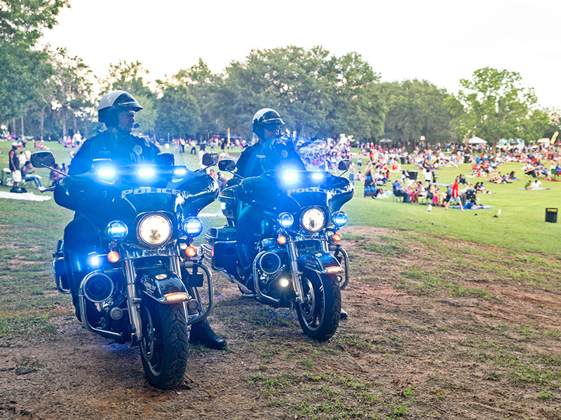 Motorcycle officers at Celebrate America