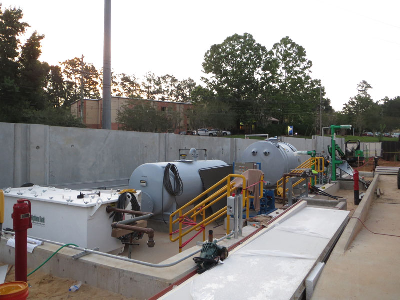 Substation 12 construction update photo - tank area