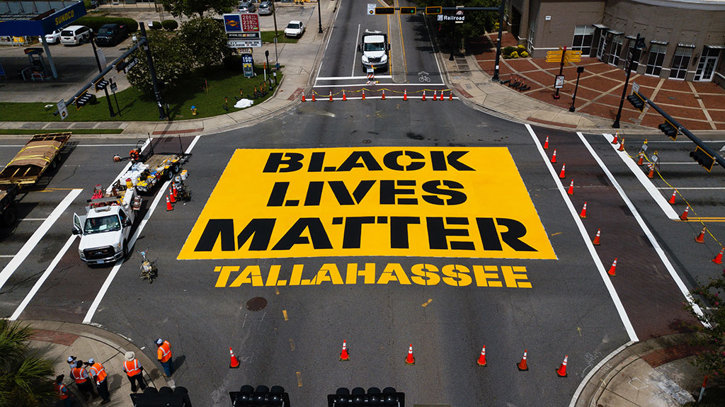 Black Lives Matter mural in Tallahassee
