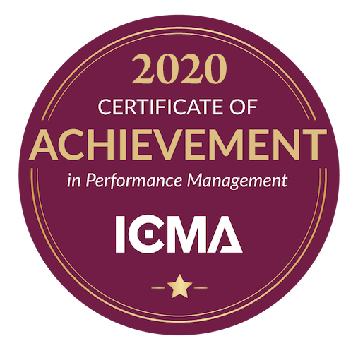 2020 Cerificate of Achievement in Performance Management