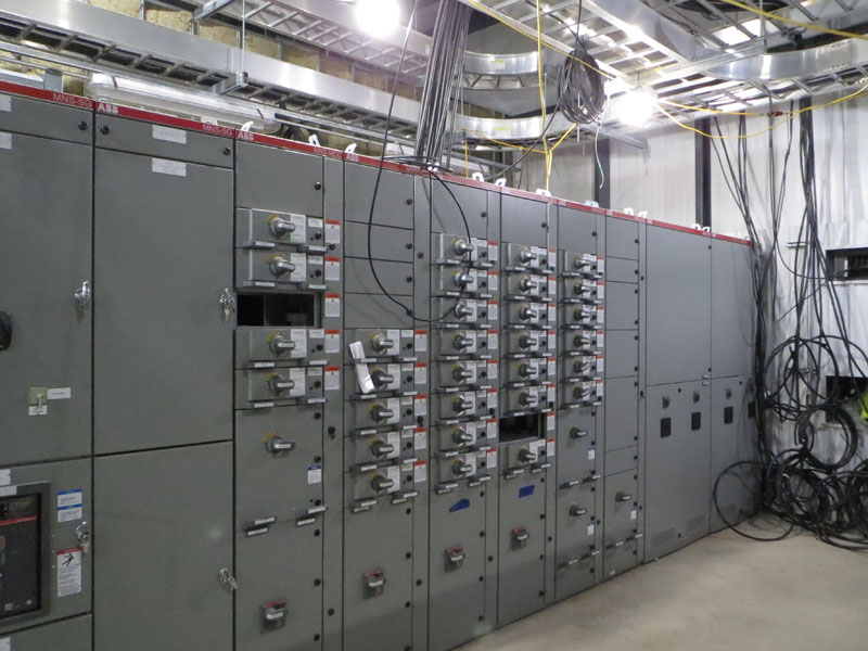 Substation 12 construction update photo - electrical switchgear